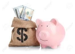 Geldzak voor bij financien